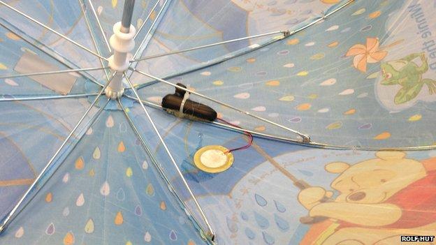 esernyő gyűjthet adatokat az esőről