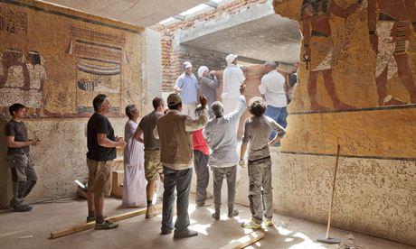 Megnyitották Tutanhamon sírjának pontos mását