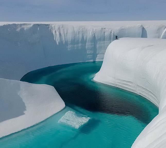 A jég csodálatos megjelenései - Birthday-Canyon-Grönland