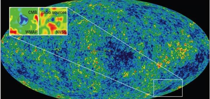 2004-ben a csillagászok a kozmikus mikrohullámú háttérsugárzásban a vártnál jóval hidegebb területet fedeztek fel, melynek létezésére egészen mostanáig nem tudtak kielégítő magyarázatot adni.