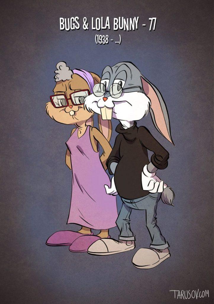Andrew Tarusov-Megöregedett rajzfilmfigurák-Tapsi Hapsi és Lola Nyuszi