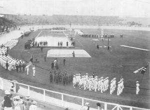 Vonulás az 1908-as Olimpián.