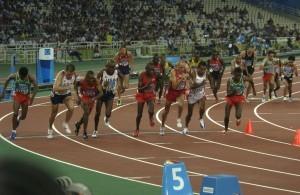 Futás a 2004-es Olimpián, Athénban.