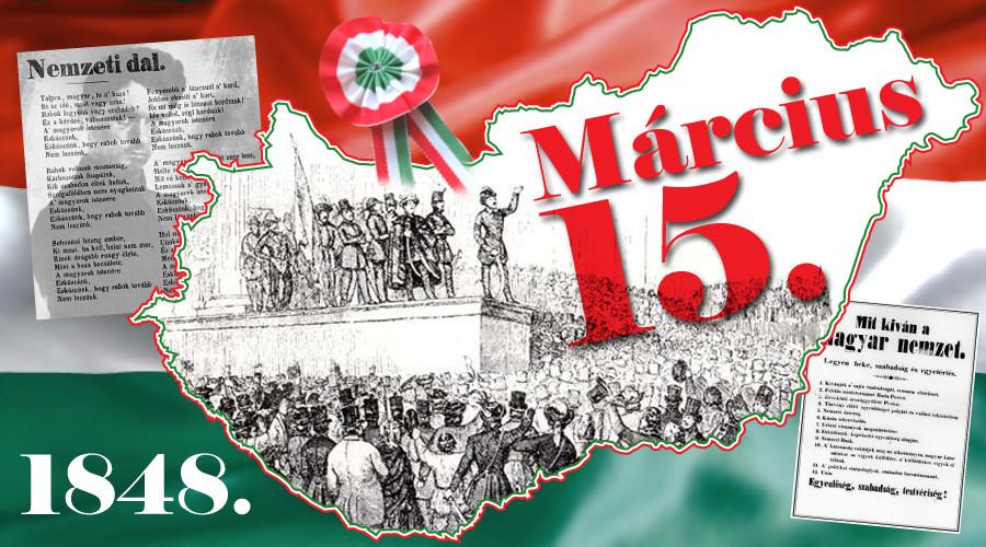 Magyar sajtószabadság napja és az 1848-49-es forradalom és szabadságharc ünnepemárcius 15-én