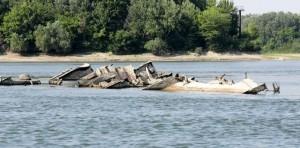Elsüllyedt hajók láthatók a Duna szerbiai szakaszán