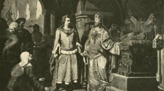 Szent László és Salamon kibékülése Klimkovics Ferencztől.
