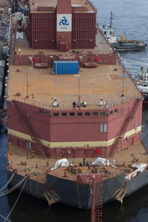 A világ első úszó atomerőműve