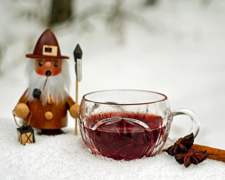 Mikulás bábú a forralt bor mellett!