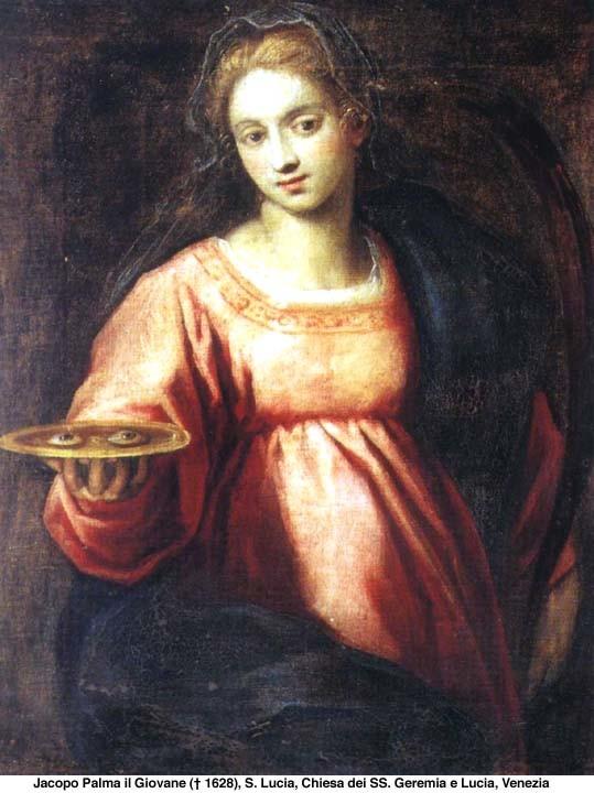 Szent Lúcia mártírhalált halt hitéért