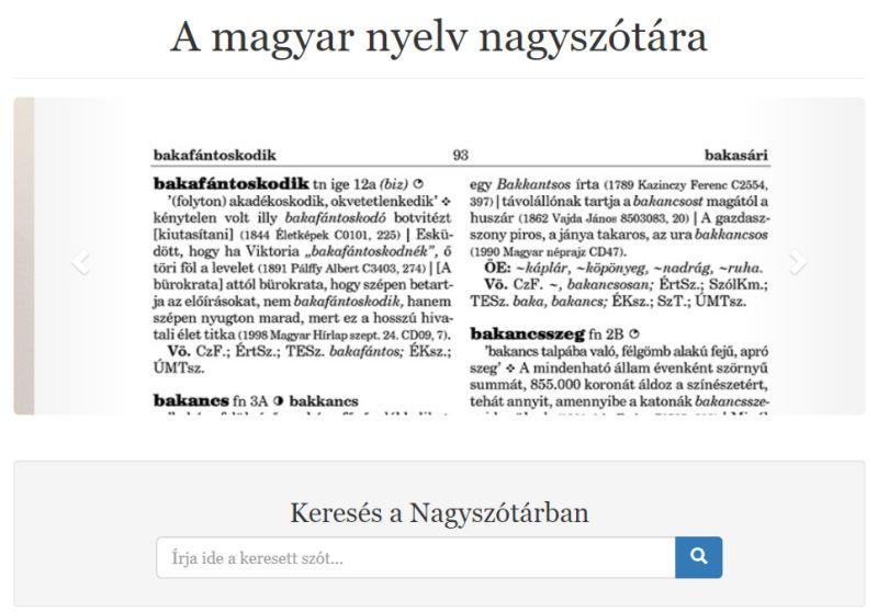 Bemutatták A magyar nyelv nagyszótára hetedik kötetét, valamint online változatát az MTA Nyelvtudományi Intézetében.
