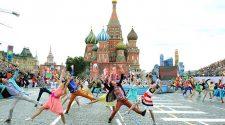 Mazsorett, mazsorettek Moszkvában!