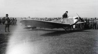 1929. Magyarország, Érd Rangsdorf német mérnök-pilóta Klemm KL2 sportrepülőgépe. Fortepan - Leltári jelzet: 1131