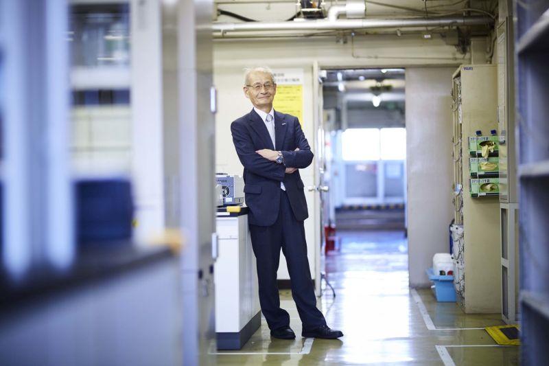 Akira Yoshino kémiai laborja.