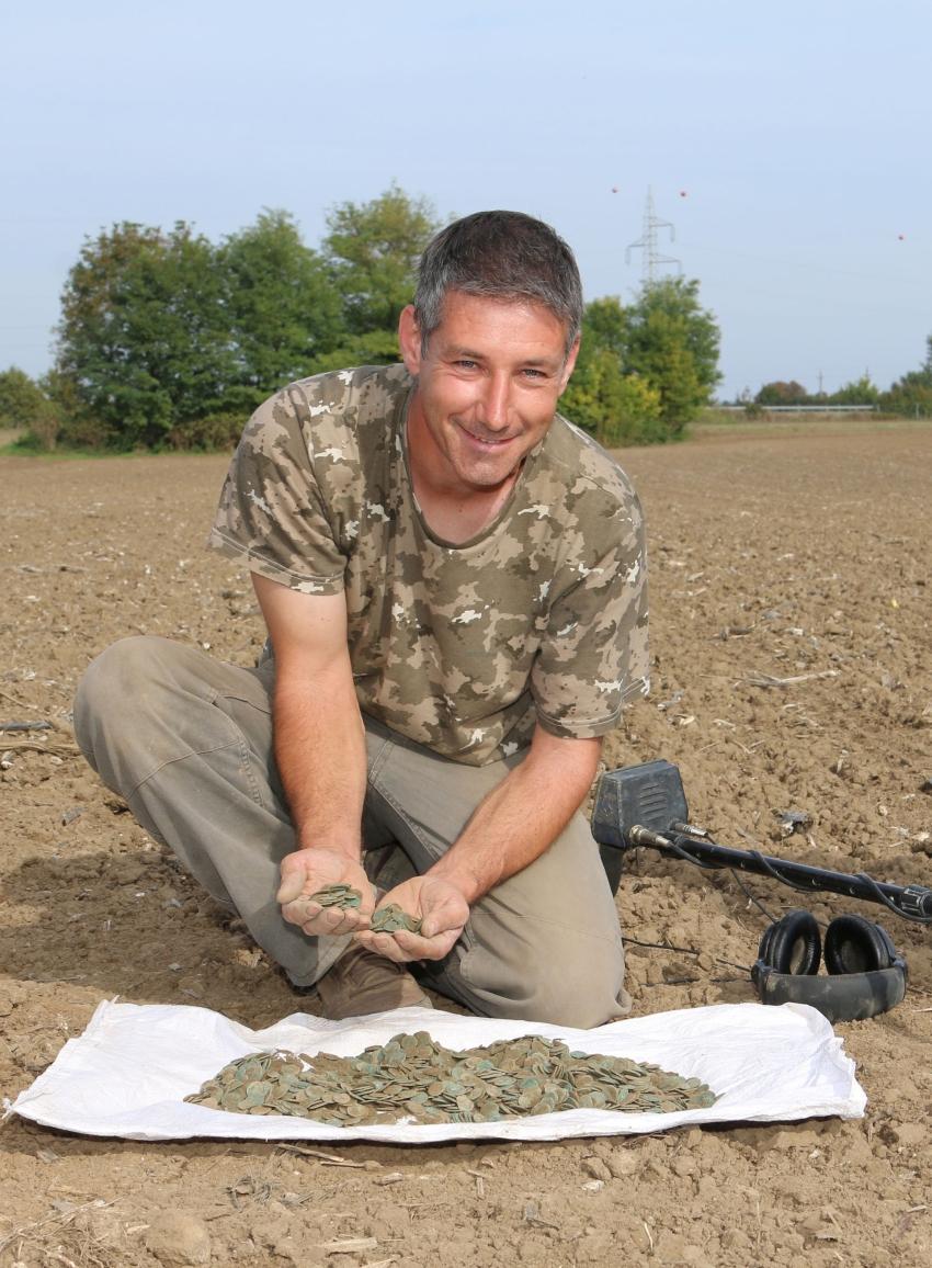 Hendinger Zoltán önkéntes lelőhelyfelderítő találta meg