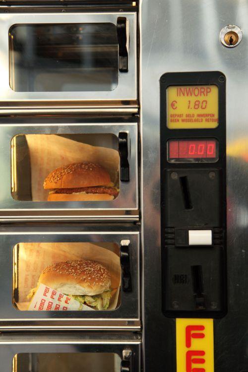 Amerikában találhatóak olyan hamburger automaták,