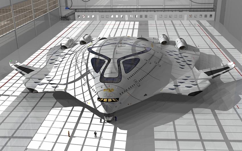 A HSP Magnavem lényegében egy nagydelta alakú szárnnyal rendelkező gép