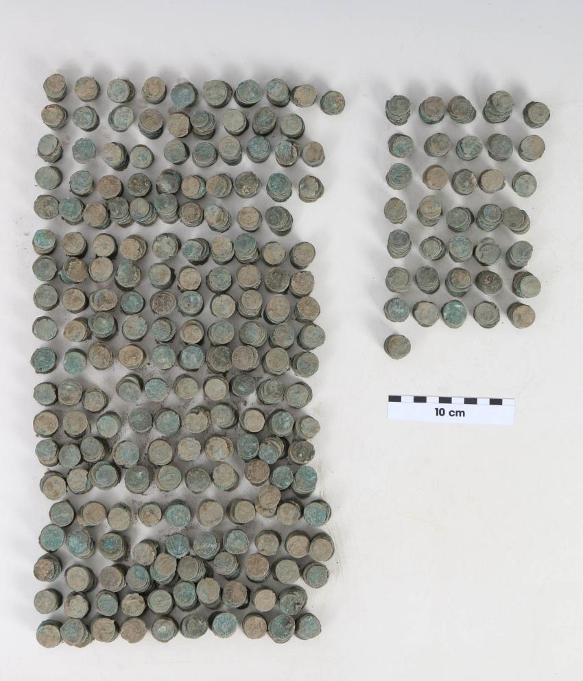 A 4. század második feléből származó több mint 2000 darab kis méretű bronz pénzérme értéke a saját korában nem volt kiemelkedő.