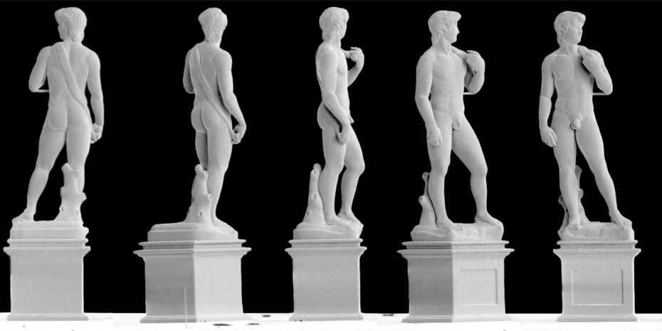 Egy milliméter nagyságú Dávid-szobor