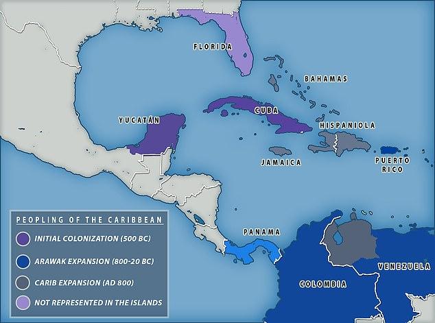 Az elemzés nemcsak három különálló karibi embercsoportot tárt fel, hanem azok migrációs útvonalait is.
