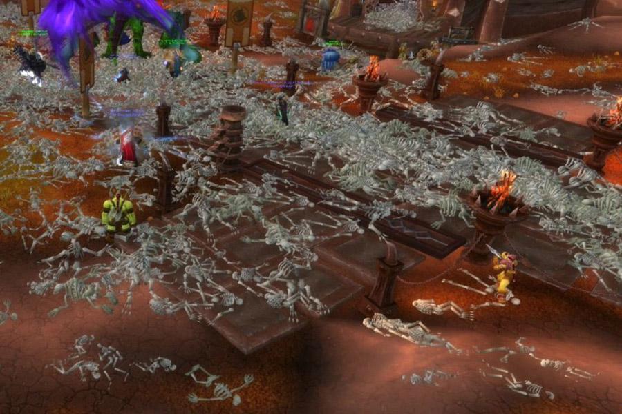 A földet nemsokára elhullott karakterek csontvázainak hekatombái töltötték meg.