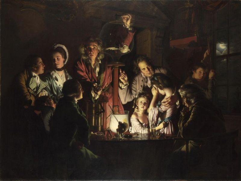 Joseph Wright: Madárkísérlet Forrás nationalgallery.org.uk