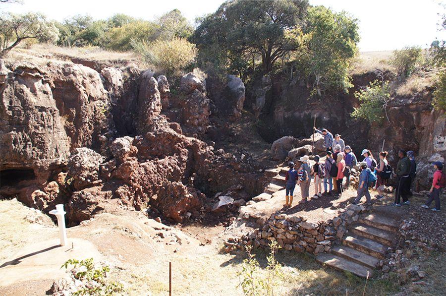 A johannesburgi Drimolen Paleo-barlangrendszer, ahol az ásatások folynak. Forrás: The Source