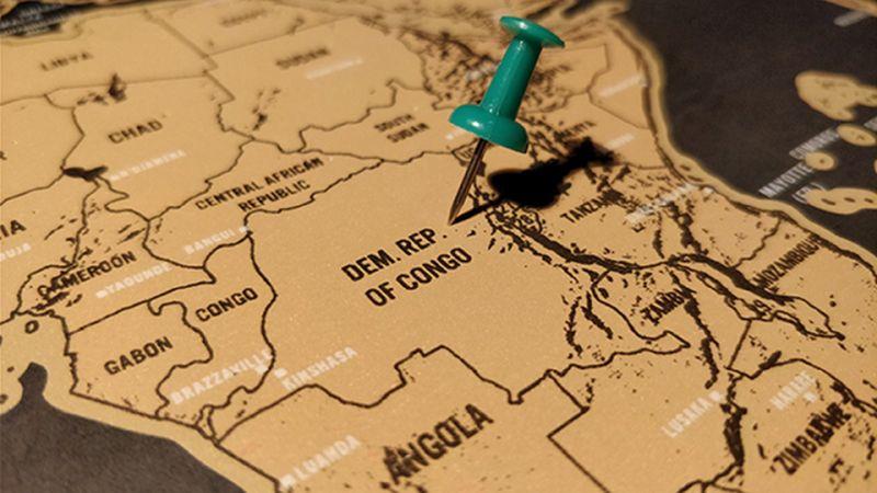 Kongói Demokratikus Köztársaság, a térképen még egyben. Forrás Health Affairs