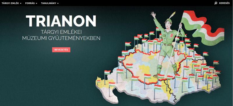 A Trianon tárgyi emlékei online gyűjtemény a Néprajzi Múzeum, a Magyar Nemzeti Múzeum, a Hadtörténeti Múzeum és Intézet, illetve a Székely Nemzeti Múzeum gyűjteményi tudásbázisára épít.