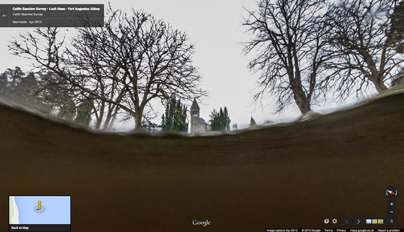 Most már mindenki kedvére keresheti a Loch Ness-i szörnyet a Google Street View térképén. Forrás: blog.google