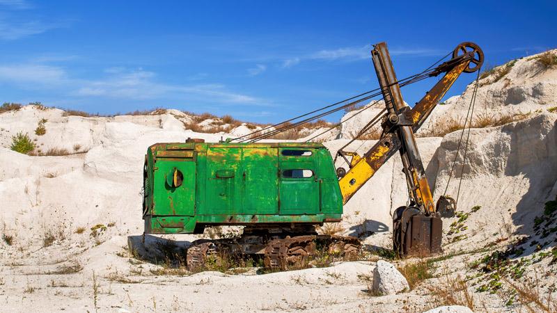 A kréta előállításához mindenekelőtt szükség van egy mészkőbányára.