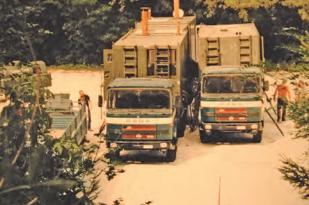 Ritka fotó a Rába TMS-80-M GTS három kocsiból álló sütőüzeméről. Forrás: Haditechnika magazin