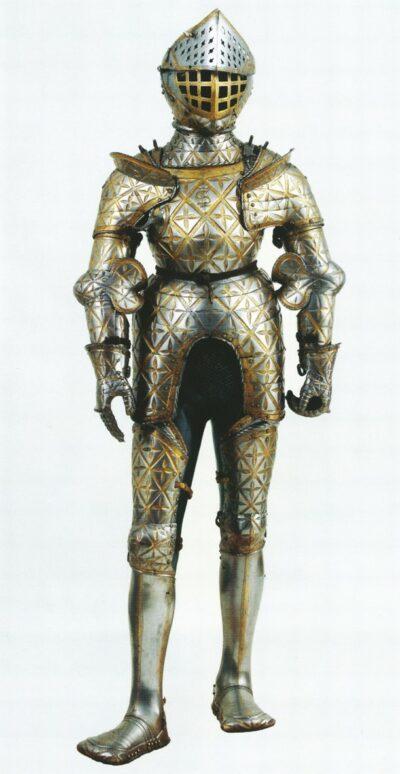 Jörg Seusenhofer: II. Zsigmond Ágost páncélja. 1533, Krakkó, Wawel