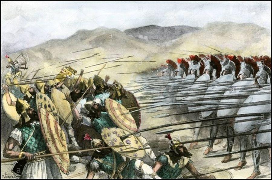 Makedón-perzsa csatakép. Forrás: Pervenimus blog