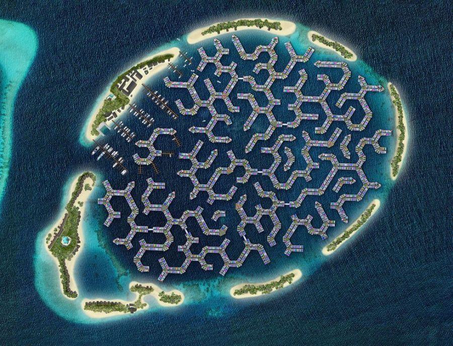 Az úszó város látványterve. Forrás: popularmechanics.com