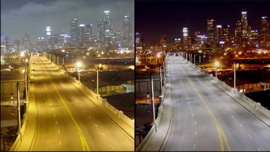 A világítás megfelelő kalibrálásával csökkenthető a zavaró fényártalom a közlekedésben! Forrás: nightsky.jpl.nasa.gov